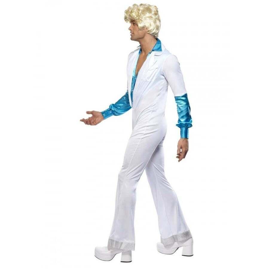 Disco Costume for Men Adult 70s Funny Super Trooper Halloween Fancy Dress
