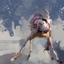 Pedro Covo Work 絵画 動物 絵 犬のアート