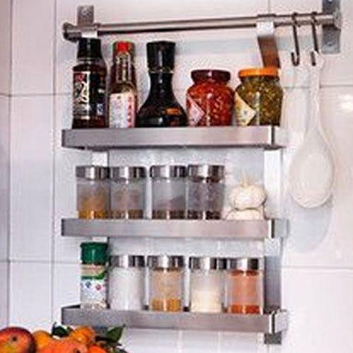 Spice Rack Rail S Hook Set Stainless Steel Ikea Grundtal Kitchen