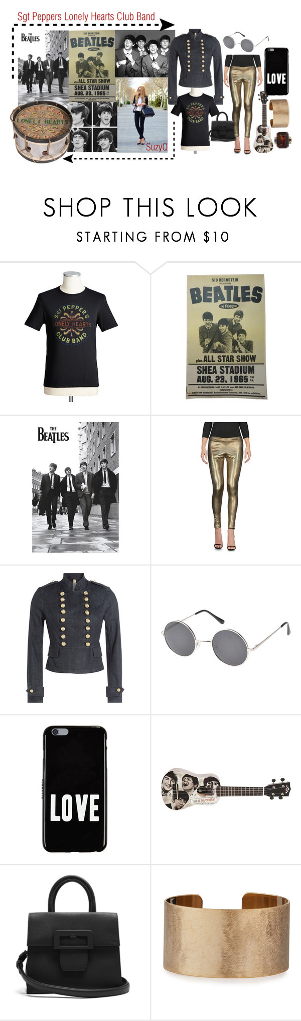 """Sgt Peppers Lonely Hearts Club Band"" by suzettestokes ❤ liked on Polyvore featuring MNML, Andrew Martin, Burberry, Epic, Givenchy, Maison Margiela and Panacea"