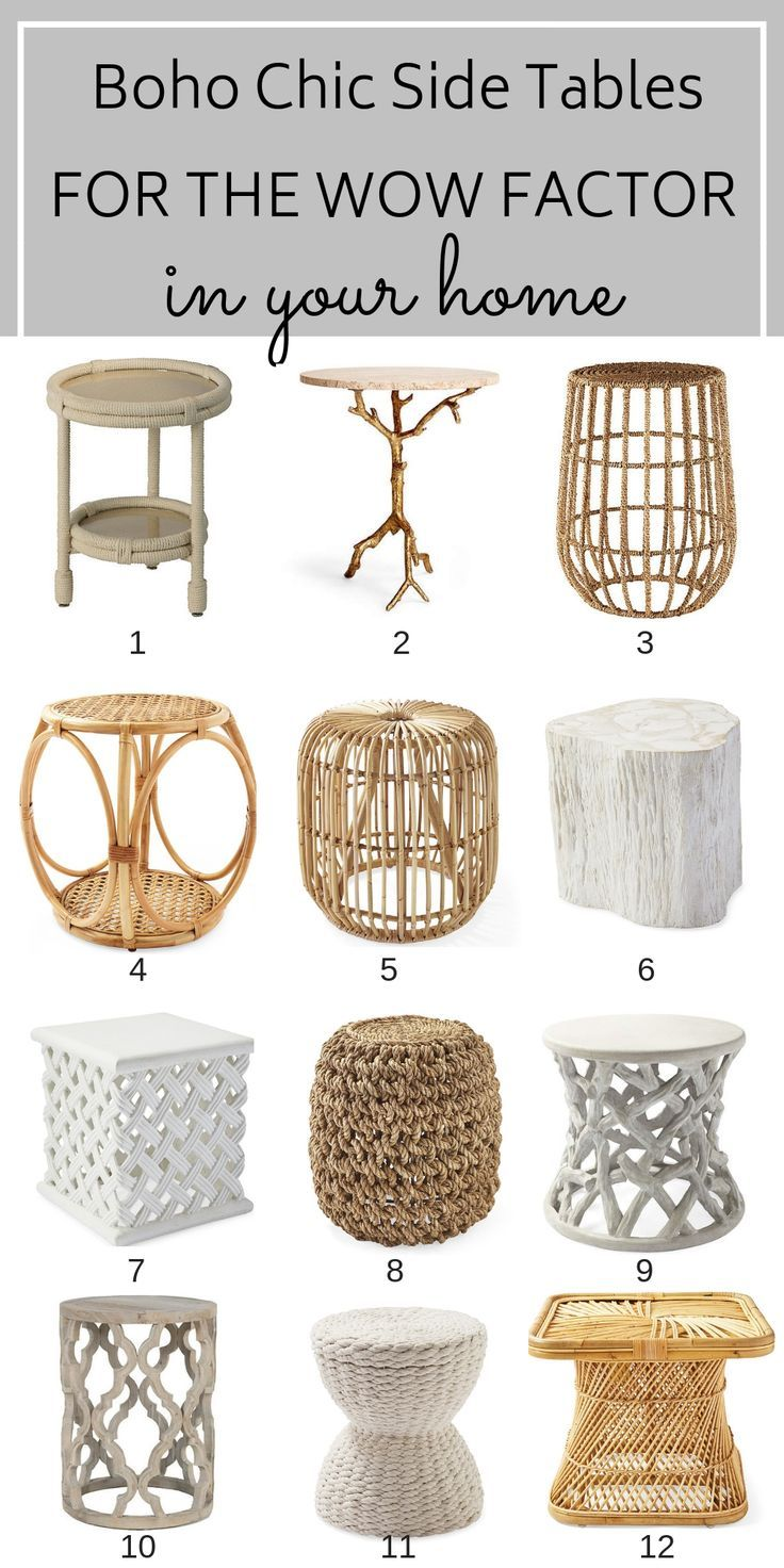 12 Boho Chic Side Tables For That Wow Factor images