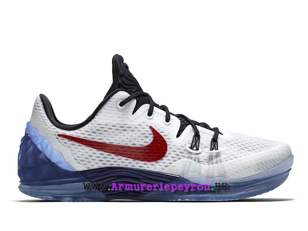 differently 3f0e9 0beb0 Nike Basketball Chaussures Zoom Kobe Venomenon 5 USA Hommes Prix Blanc    Team Red-Midnight Navy 815757 164