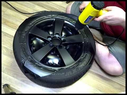 DIY to wrappin your rim in vinyl.... will be doing this ...