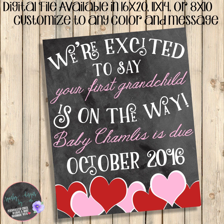 Pregnancy Reveal Announcement Gender Reveal Announcement Ultrasound Picture Grandson Grandson Announcement It/'s A Boy Announcement
