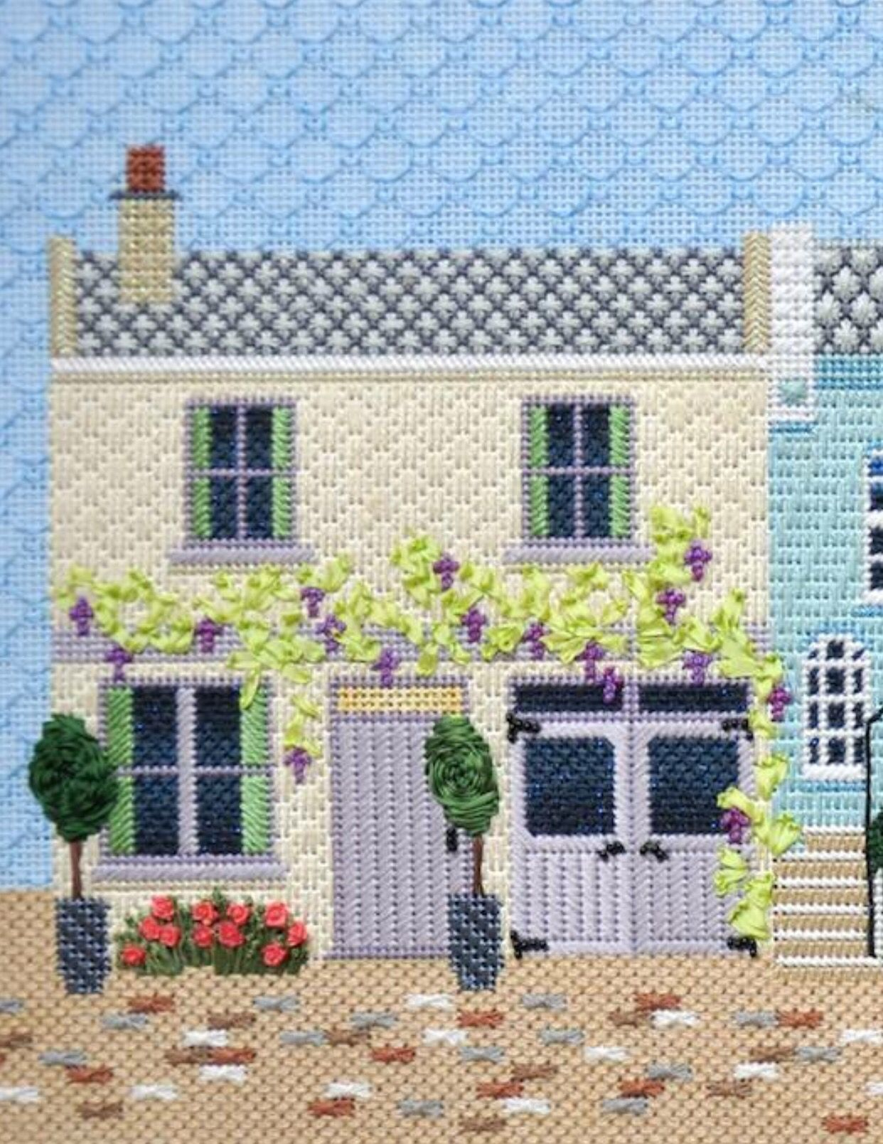 Mews house needlepoint from Kirk & Bradley                                                                                                                                                                                 More