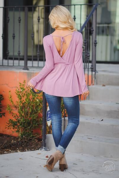 Couldn't Ask For More Surplice Top - Mauve