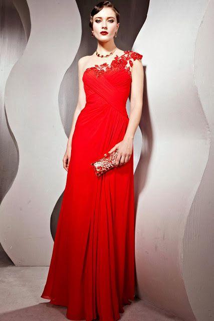 fdffa231f Vestidos de noche de color rojo
