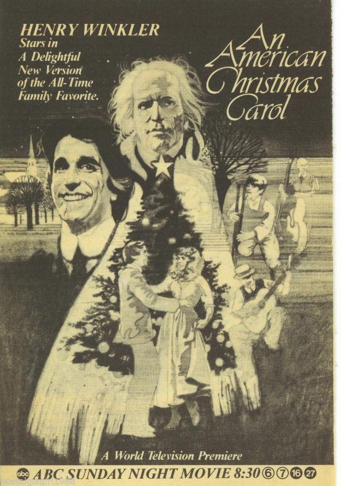 an american christmas carol 1979 starring henry winkler - American Christmas Carol