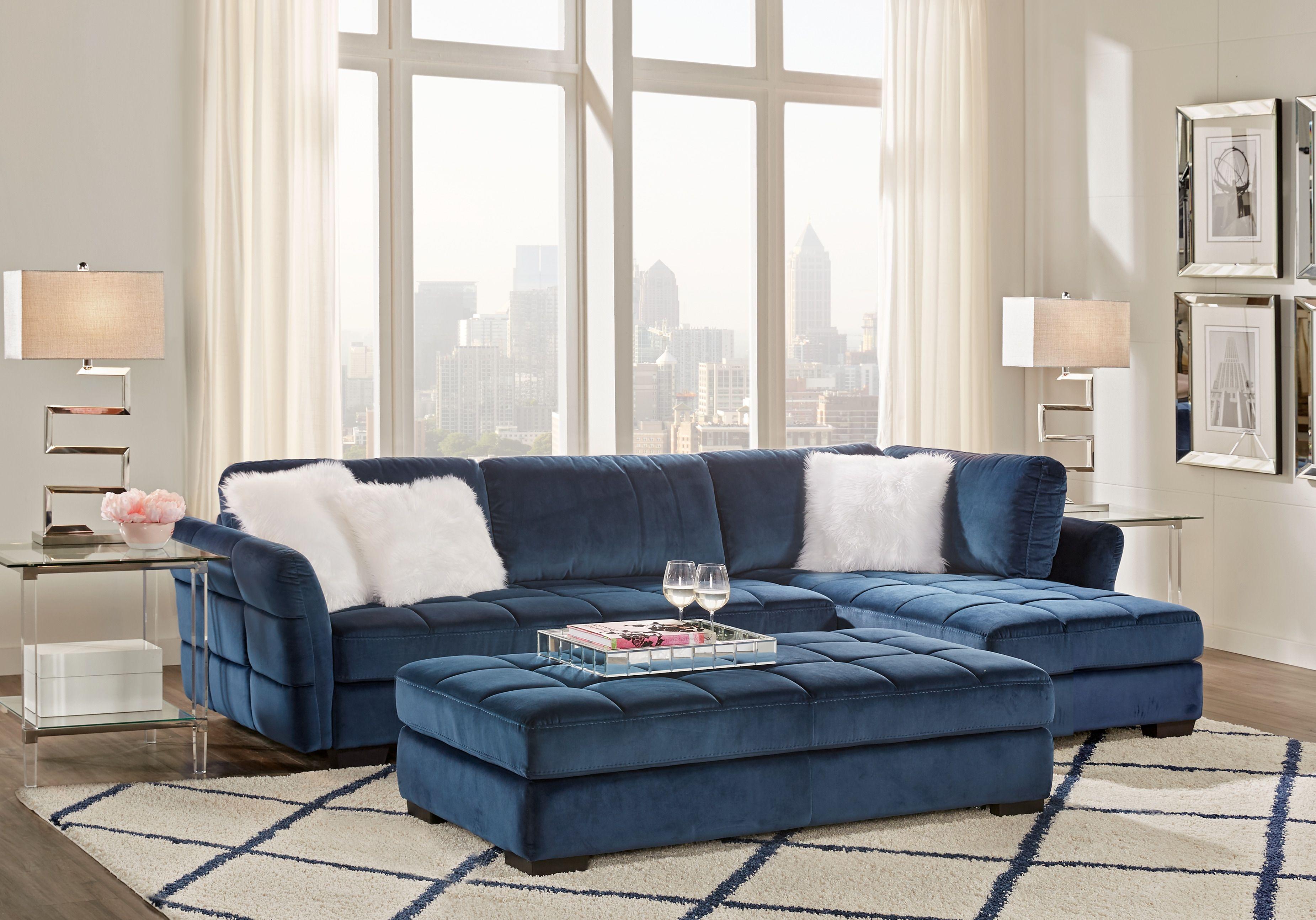 Largo Drive Indigo 3 Pc Sectional Living Room Living Room Sets
