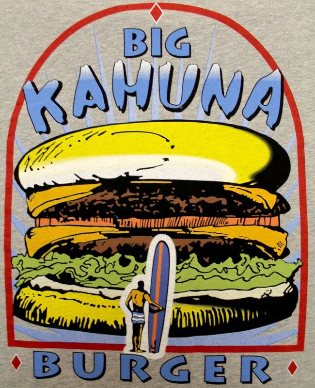 T Shirt Homme Big Kahuna Burger Tarantino Homme Pulp Fiction Pulp - Shirt A La Minute Groningen