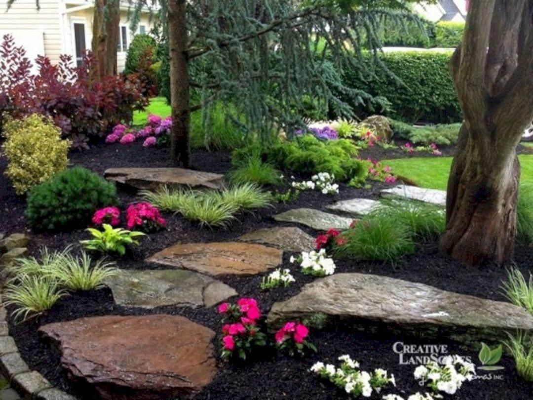55 gorgeous rock pathway design ideas to enhance your on favorite beautiful garden design ideas for enhance your yard tips for gardening id=85780