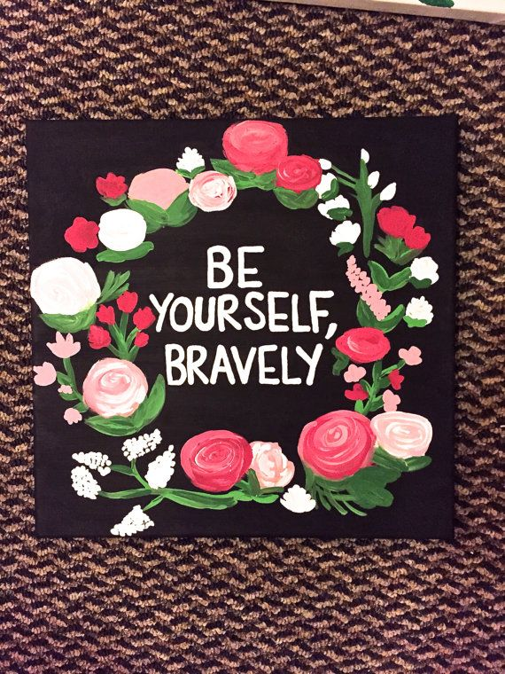 Be yourself bravely canvases etsy and sorority be yourself bravely delta gamma craftssorority solutioingenieria Gallery