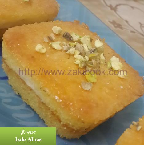 بسبوسة بالقشطة لكل عشاق البسبوسة Ramadan Sweets Arabic Food Recipes