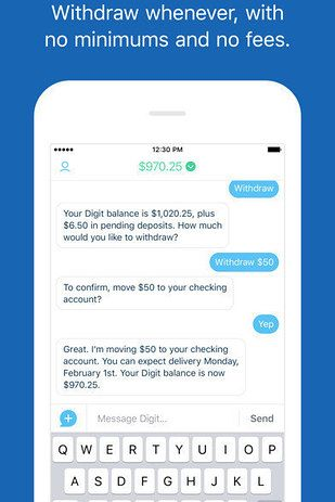 Download Digit, an app that analyzes your bank account and