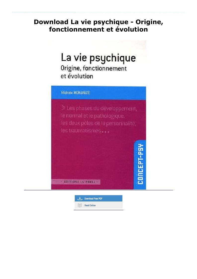 Download La Vie Psychique Origine Fonctionnement Et Evolution In 2020 Paperbacks La Vie Pie Chart