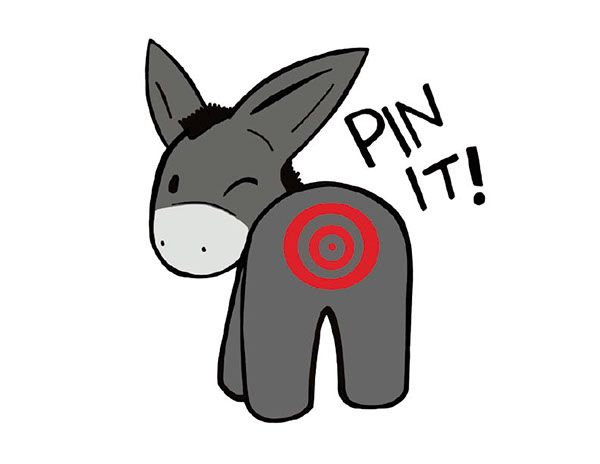 picture regarding Pin the Tail on the Donkey Printable named Design and style for a brand name: Pin the tail upon the donkey upon Behance
