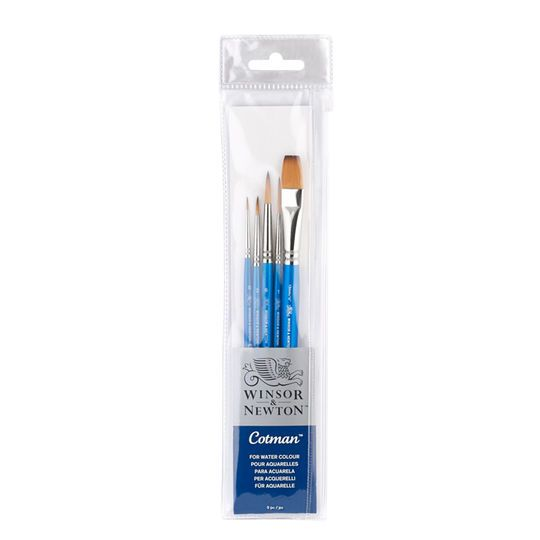 Winsor Newton Cotman Short Handle Brush 5 Ct With 1 2 One