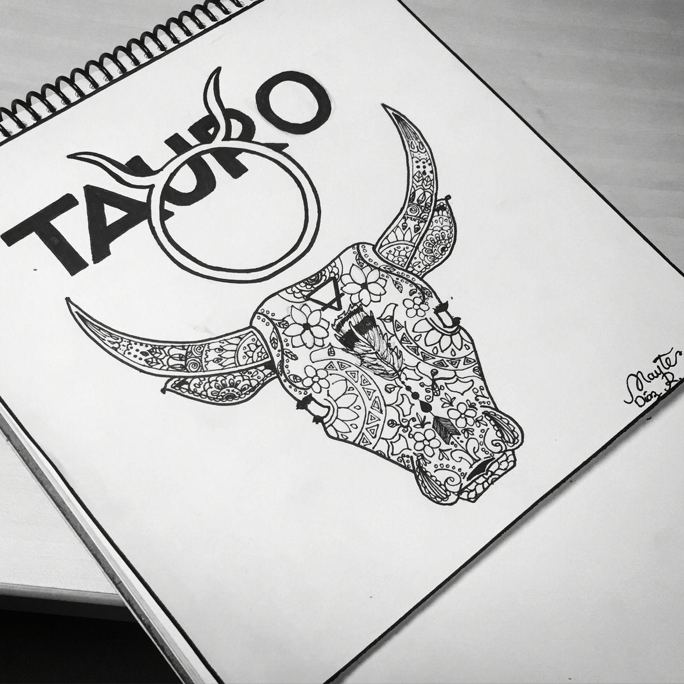Taurus mandala tattoo