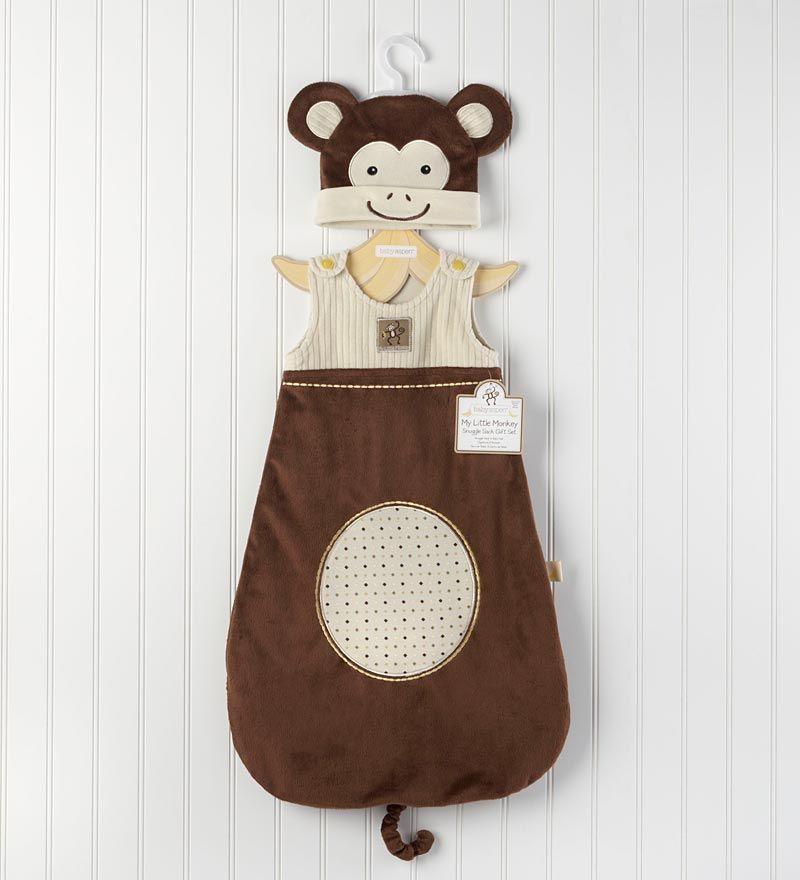 Baby Aspen® My Little Monkey Snuggle Sack and Cap Set