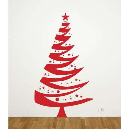 All Kind Of Christmas Holiday Wall Decals: Inspiring Artistic Red Christmas  Tree Wall Decal ~