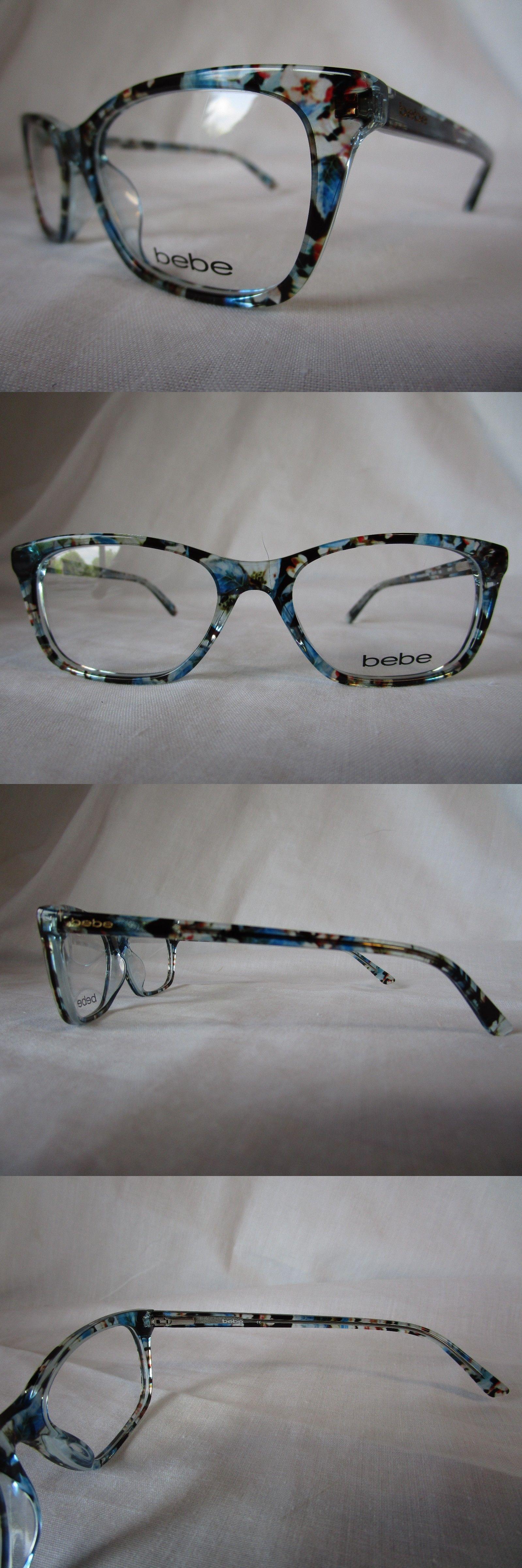 59f0a54948b7 Eyeglass Frames 180957  Bebe Eyeglass Frame Bb5145 400 Blue Floral  Transparent 53-17-