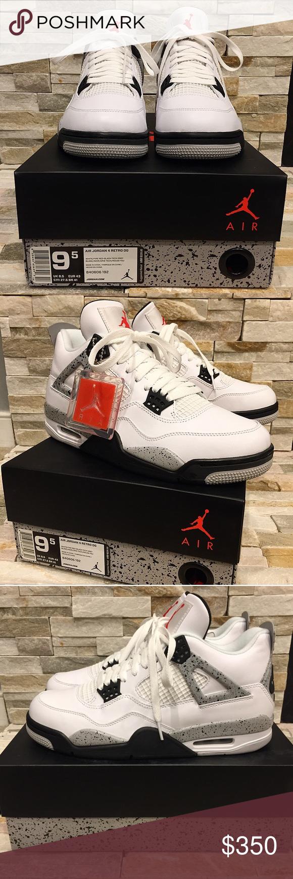 """""""MENS"""" Jordan 4 Retro White Cement Gray OG """"MENS"""" Jordan 4 Retro White  Cement Gray OG. Dead Stock! Never tried on. Box included. No trades.  Serious… 0e81e2593"""
