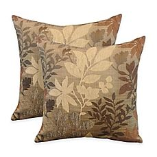 image of Arlee Home Fashions® Bristol Chenille Jacquard Leaf Square Throw Pillow…