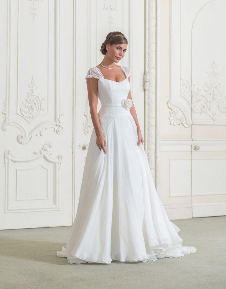 Brautkleider luxury wedding dresses chiffon and satin sweetheart ...