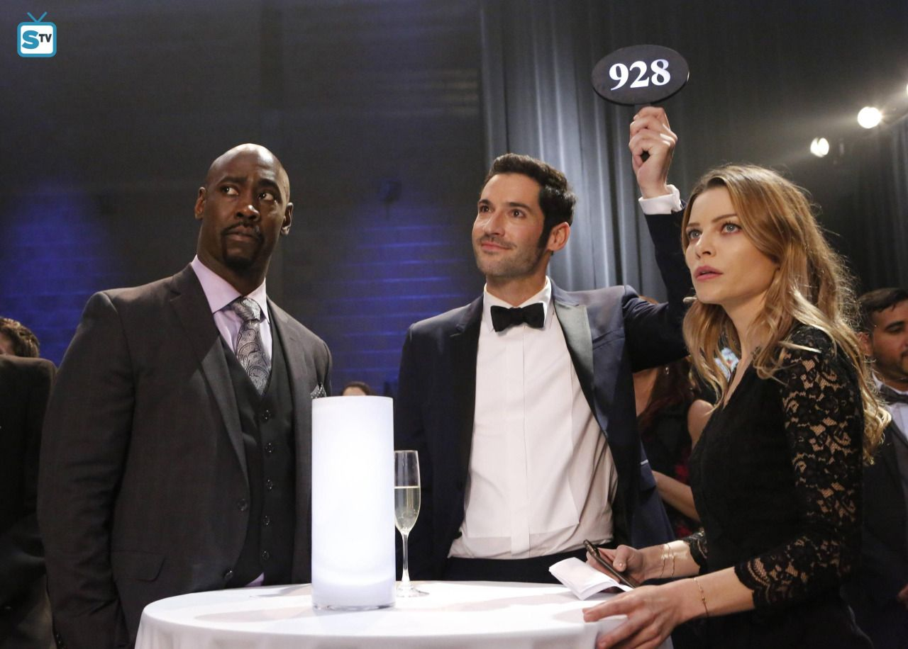 Amenadiel,Lucifer and Chloe. These two guys can rock a suit!