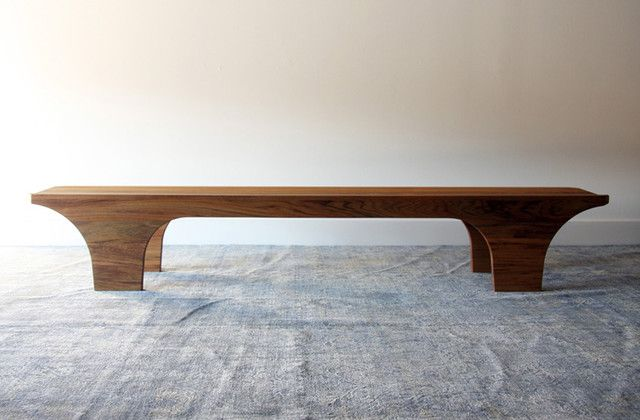 Scoop Bench Henrybuilt Furniture Contemporary Indoor Modern Wood Bench Wooden Dining Bench Modern Wood Bench Wooden Bench Indoor