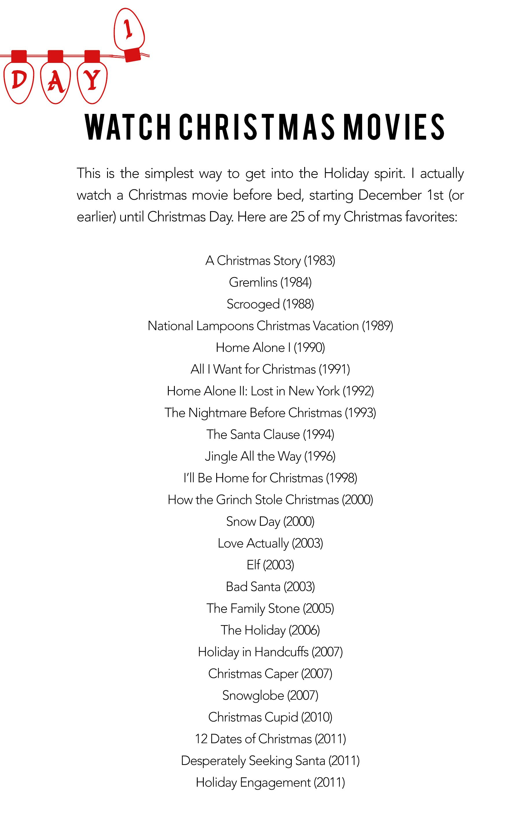 Christmas Movies Everyday Of December Christmas Movies Christmas Movies List Christmas Humor