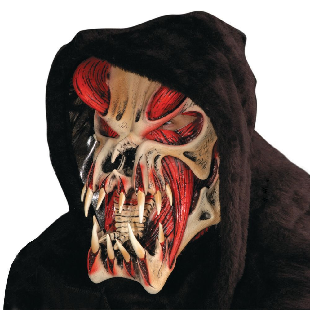 Red Halloween Predator Mask | Halloween, Masks and Red