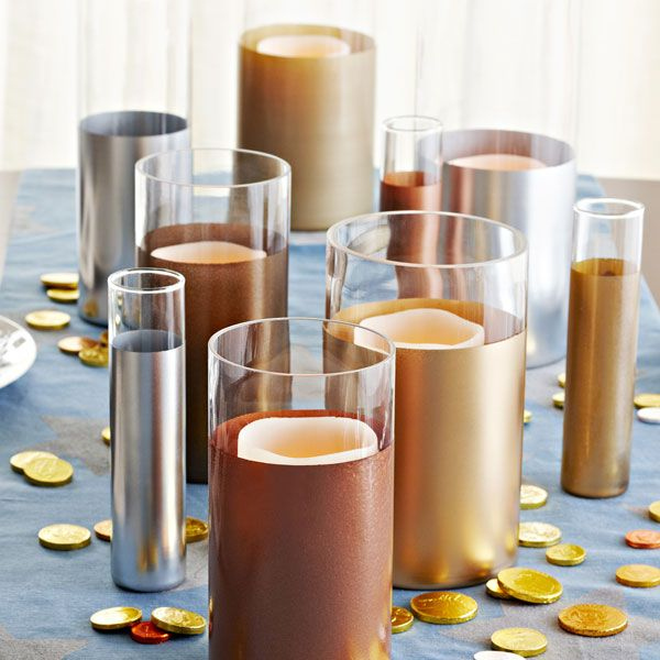 Metallic Look Glass Vases Lowes Creative Ideas Plain Glass