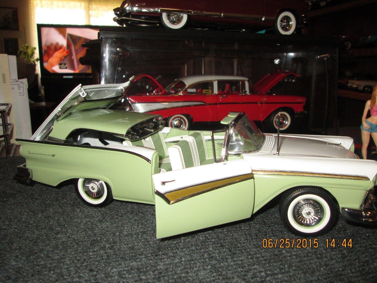 1 18 sun star avacado green white 1957 ford fairlane skyliner rare 1st issue ebay