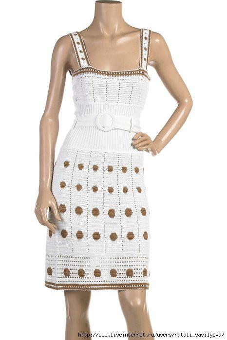 вязание крючком юбки платья