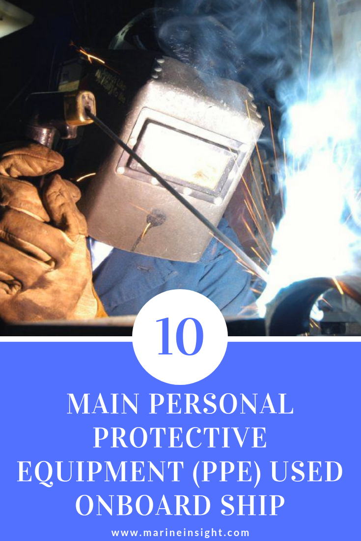 10 Main Personal Protective Equipment (PPE) Used Onboard