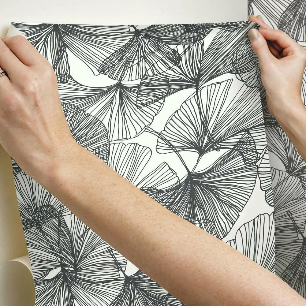 Gingko Leaves Peel And Stick Wallpaper Peel And Stick Wallpaper Gingko Leaves Gingko