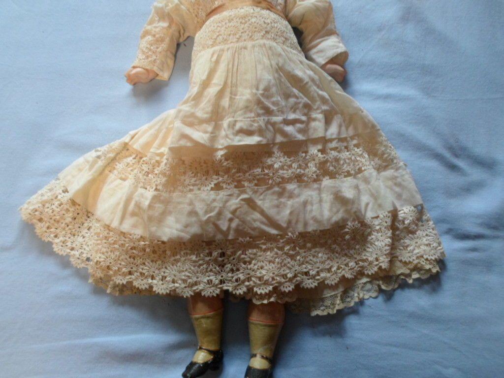 "Antique 29"" Wax Head Doll RARE Cloth Body Original | eBay"