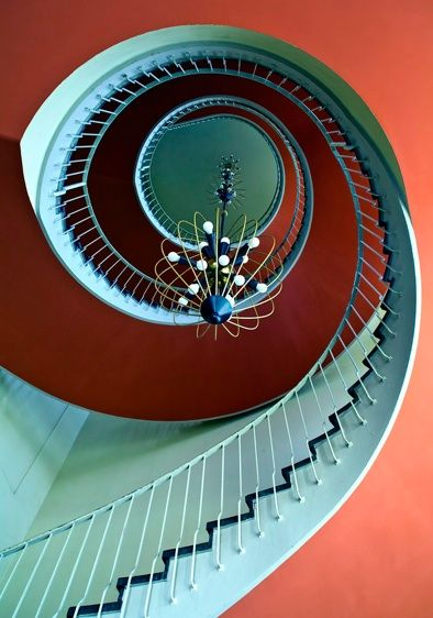 That's an amazing staircase. And a really cool picture.