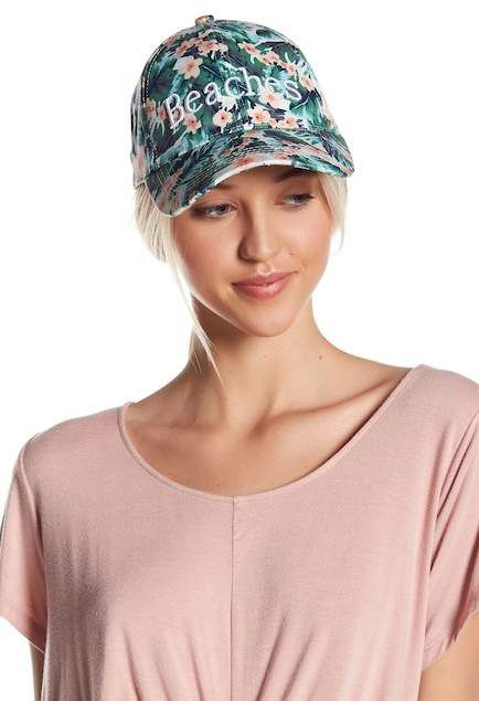 David & Young Floral Beaches Baseball Cap