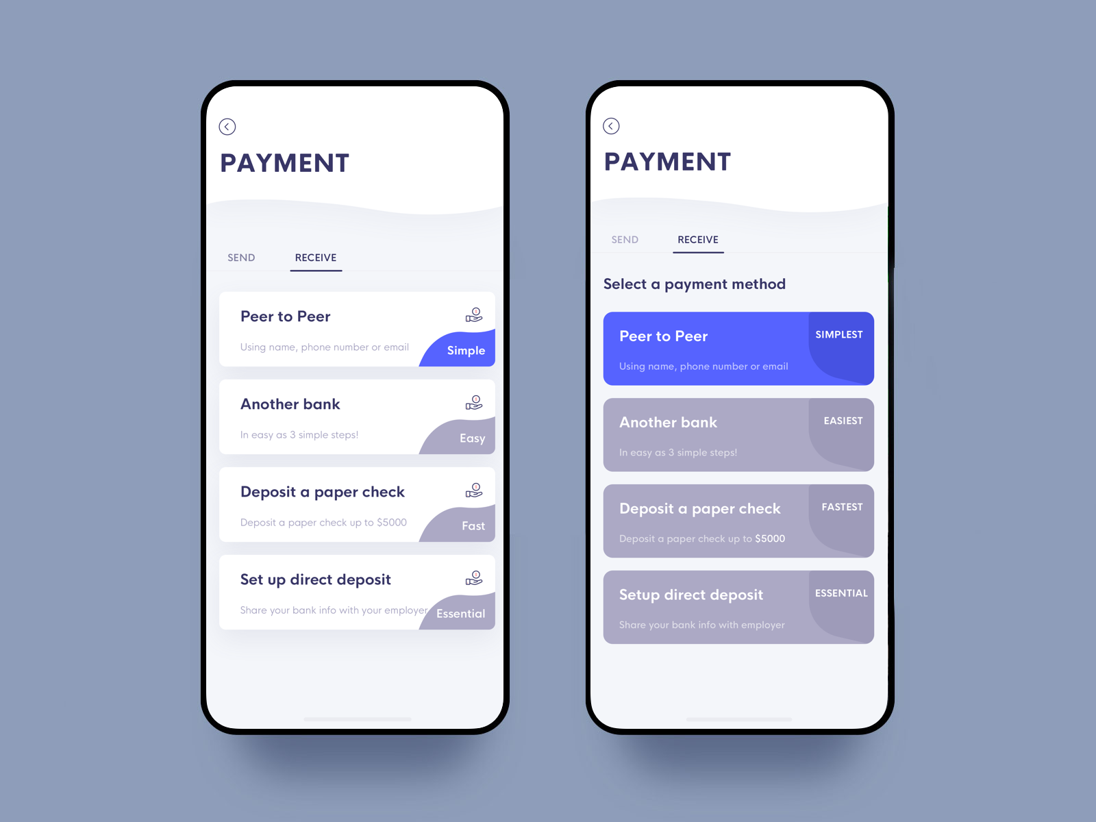 Receive Payment Mobile Web Design Mobile Design App Design