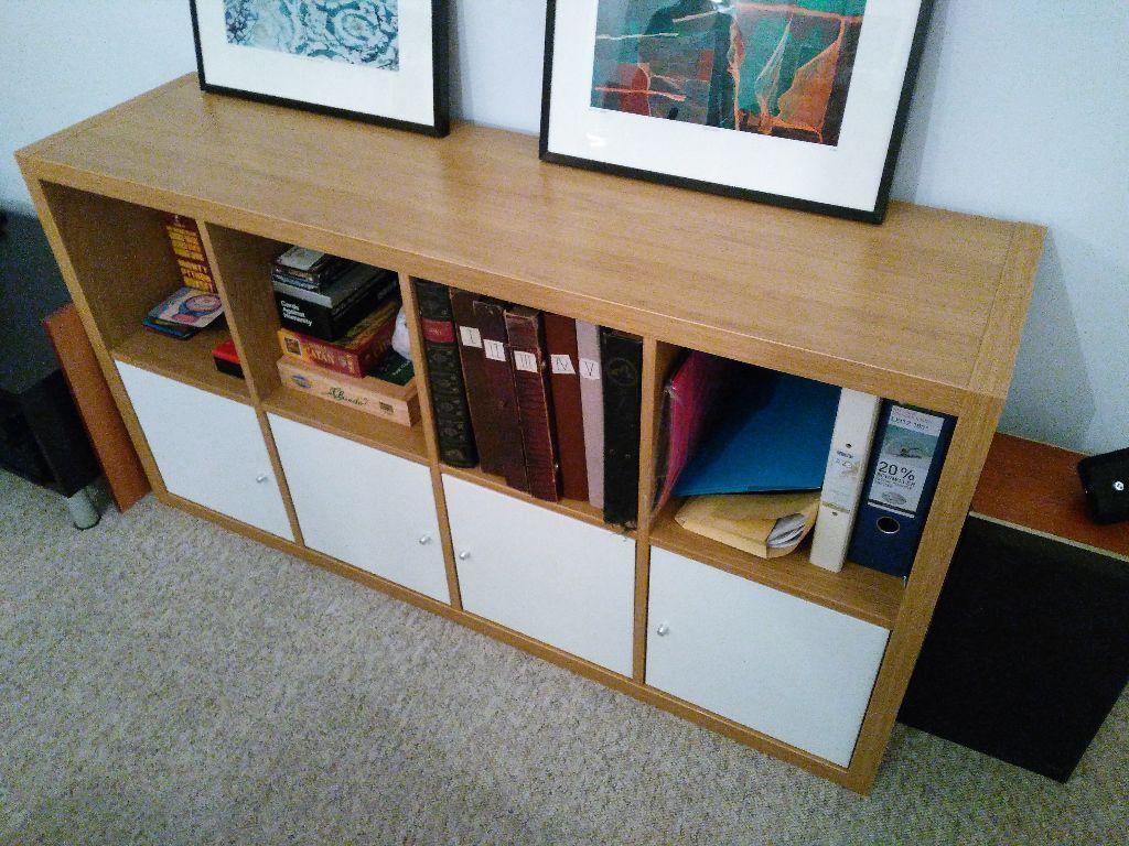 Image result for ikea kallax oak white | living room | Pinterest ...