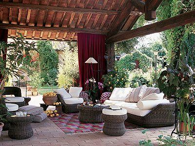 Inspirationen: Wunderschöne Gartenmöbel: Lounge Im Kolonialstil   Wohnen U0026  Garten