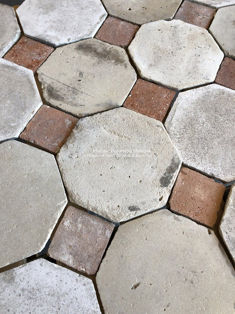 New In Stock Lot 17th Century French Limestone Octagon