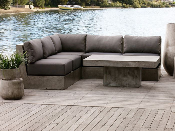 Raphael 5pc Modular Outdoor Sofa Categories Papaya