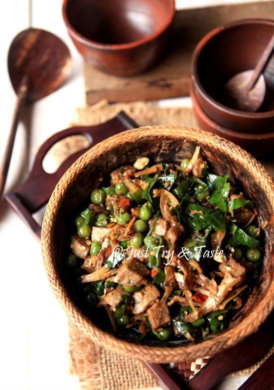 Tumis Tempe Gembus Leunca Teri Dan Daun Melinjo Makanan Sehari Hari Resep Kerang Makanan Dan Minuman