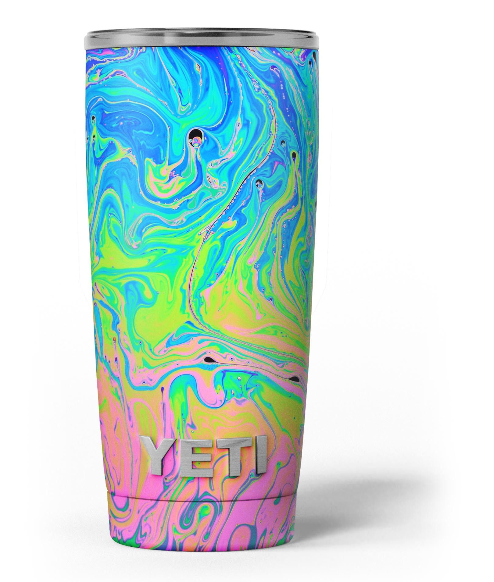 657f6cc6974 Neon Color Swirls Yeti Rambler Skin Kit | Cups | Decals for yeti ...