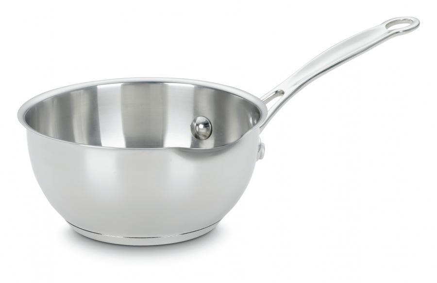 Chef S Classic Stainless 1 Quart Pour Saucepan Cuisinart Stainless Cookware Sets