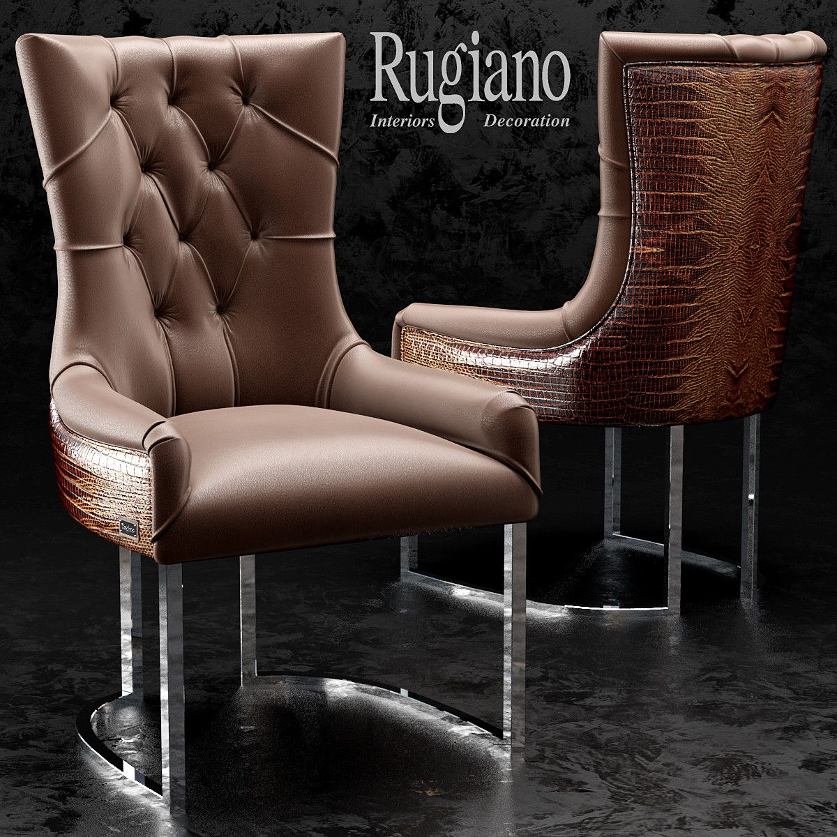 3d chair itaca rugiano model | Leather,like ,Chesterfield,Lancaster ...