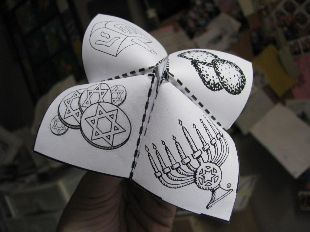 Chanukah Learning Chatterbox Cootie Catcher
